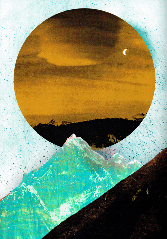 Print – Yellow moon on the rise